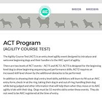 AKC Agility Course Test Logo