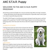 AKC STAR Puppy Logo