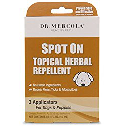 Mercola Spot On Topical Herbal Repellent For Dogs Puppies